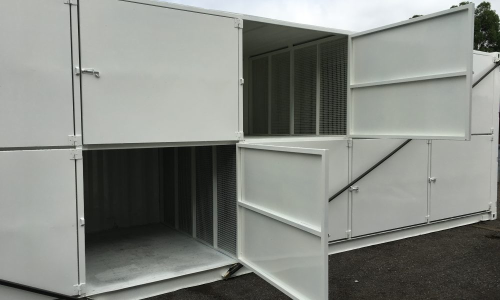 shipping container storage unit